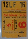1961 Stanley Cup Final Gm 5 Red Wings at Blackhawks ticket stub
