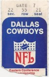 1969 NFC Divisional Playoffs ticket stub Browns at Cowboys