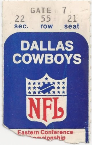 1969 Browns at Cowboys Eastern Conference Finals