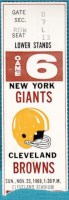 1969 Giants at Browns ticket stub