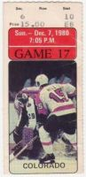 1980 NHL Rockies at Flyers ticket stub