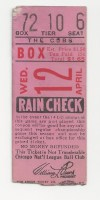 1933 Cardinals at Cubs Opening Day ticket stub
