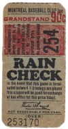 1940s International League Montreal Royals ticket stub