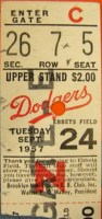 1957 Pirates at Dodgers Last game at Ebbets Field
