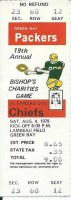 1979 Chiefs at Packers ticket stub