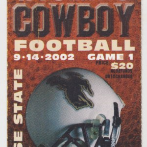 2002 NCAAF Wyoming ticket stub vs Boise State for sale