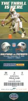 2006 Patriots at Dolphins ticket stub