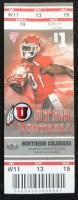 2012 NCAAF Northern Colorado at Utah ticket stub