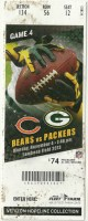 2013 Bears at Packers ticket stub