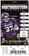 2013 NCAAF Western Michigan at Northwestern ticket stub