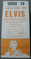 1975 Elvis Presley Pontiac ticket stub