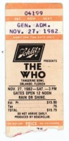 1982 The Who, Joan Jett, B-52's in Orlando ticket stub