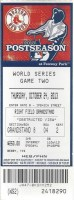 2013 World Series Game 2 ticket Cardinals at Red Sox