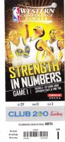 2015 NBA Western Conference Final Rockets at Warriors ticket stub
