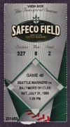 1999 Orioles at Mariners ticket stub