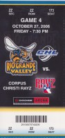 2006 CHL Rio Grande Valley Killer Bees ticket stub vs Corpus Christi