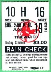 1981 Pawtucket Red Sox ticket stub vs Red Wings