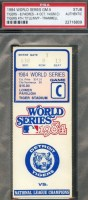 1984 World Series Game 5 ticket stub Padres at Tigers
