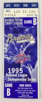 1995 NLCS Reds at Braves ticket stub