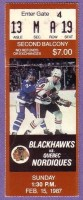1987 NHL Nordiques at Blackhawks