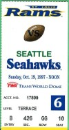 1997 NFL Seahawks at Rams