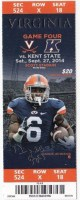 2014 NCAAF Kent State at Virginia ticket stub