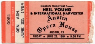 1984 Neil Young and the International Harvesters Austin