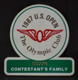 1987 US Open Olympic Club Golf Tournament Contestants Family Badge 30 copy