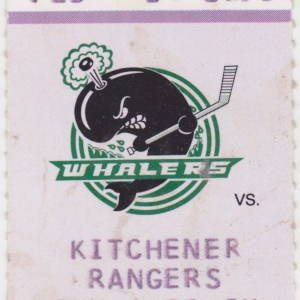 1998 OHL Plymouth Whalers ticket stub vs Kitchener