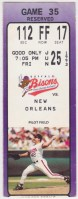 1993 Buffalo Bisons ticket stub vs New Orleans