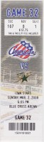 2008 AHL Rochester Americans ticket stub vs Iowa