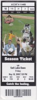 2008 Sacramento River Cats ticket stub vs Salt Lake