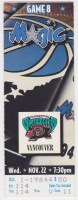 1994 Orlando Magic ticket stub vs Vancouver Grizzlies