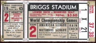 1945 World Series Game 2 Cubs at Tigers Ticket Stub 100