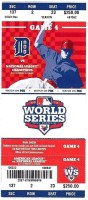 2012 World Series Game 4 Ticket Giants vs Tigers