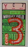 1932 World Series Game 3 Ticket Stub New York vs Chicago
