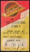 1982 NHL Playoffs Rd 2 Gm 1 Kings at Canucks ticket stub