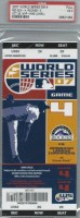 2007 World Series Game 4 ticket Red Sox vs Rockies