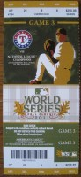 2011 World Series Game 3 ticket Cardinals at Rangers