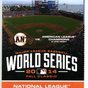2014 World Series Game 3 Royals at Giants ticket stub