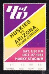 1984 NCAAF Arizona at Washington ticket stub