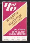 1984 NCAAF Houston at Washington ticket stub
