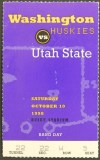 1998 NCAAF Utah State at Washington ticket stub
