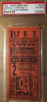 1931 World Series Game 2 Ticket Stub Athletics at Cardinals