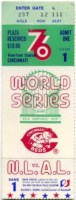 1976 World Series Game 1 Yankees at Reds ticket stub