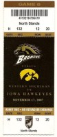 2007 NCAAF Western Michigan at Iowa ticket stub