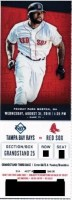 2016 MLB Rays at Red Sox ticket stub