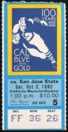 1982 NCAAF San Jose State at California ticket stub