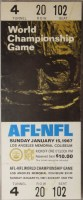 1967 Super Bowl Packers v Chiefs full ticket white version