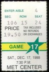 1988 NHL Kings at North Stars ticket stub